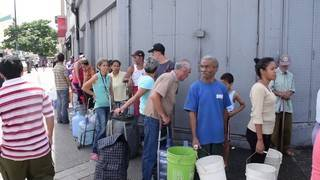 Without running water, Venezuelans are forced to get creative
