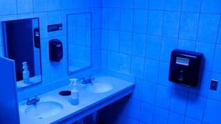 Retailers experiment with blue lights to deter drug use