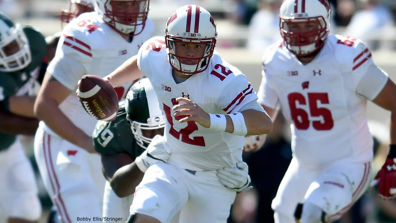 Alex Hornibrook Wisconsin beats Michigan State 2016