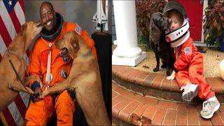 4-year-old girl recreates astronaut Leland Melvin's viral portrait