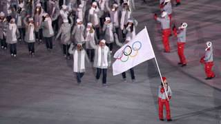 Russian athletes not allowed to carry flag at closing ceremony