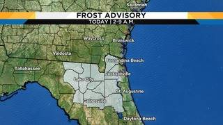 Frost start to calm, mild Tuesday