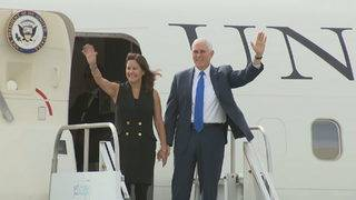 Vice President Mike Pence stops in South Florida