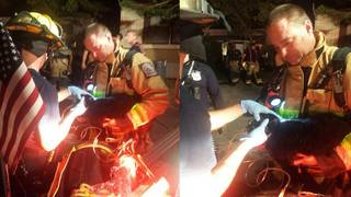 1 taken to hospital, cat saved after house fire in Fort Lauderdale