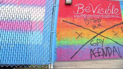 'It's an act of hate': Police investigating defacement of Houston's Pride Wall