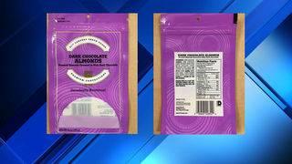 Dark chocolate almonds recalled due to undeclared milk allergen