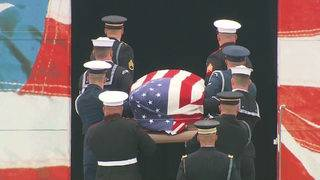 At second memorial service, Bush remembered for humility and humor