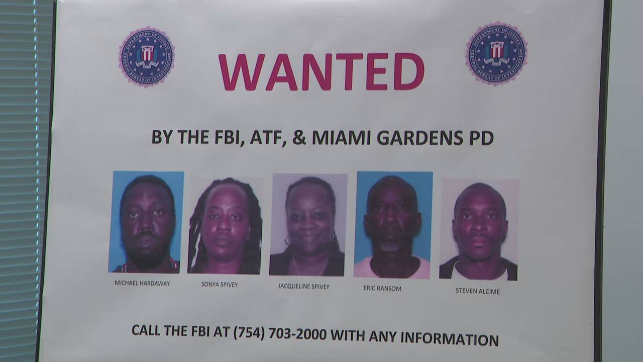 Wanted by the FBI, ATF & Miami Gardens PD poster