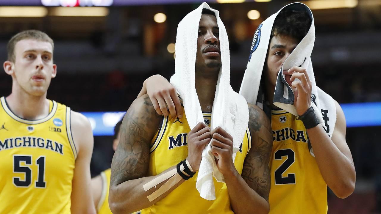 Charles Matthews Jordan Poole Michigan basketball vs Texas Tech Sweet 16 2019