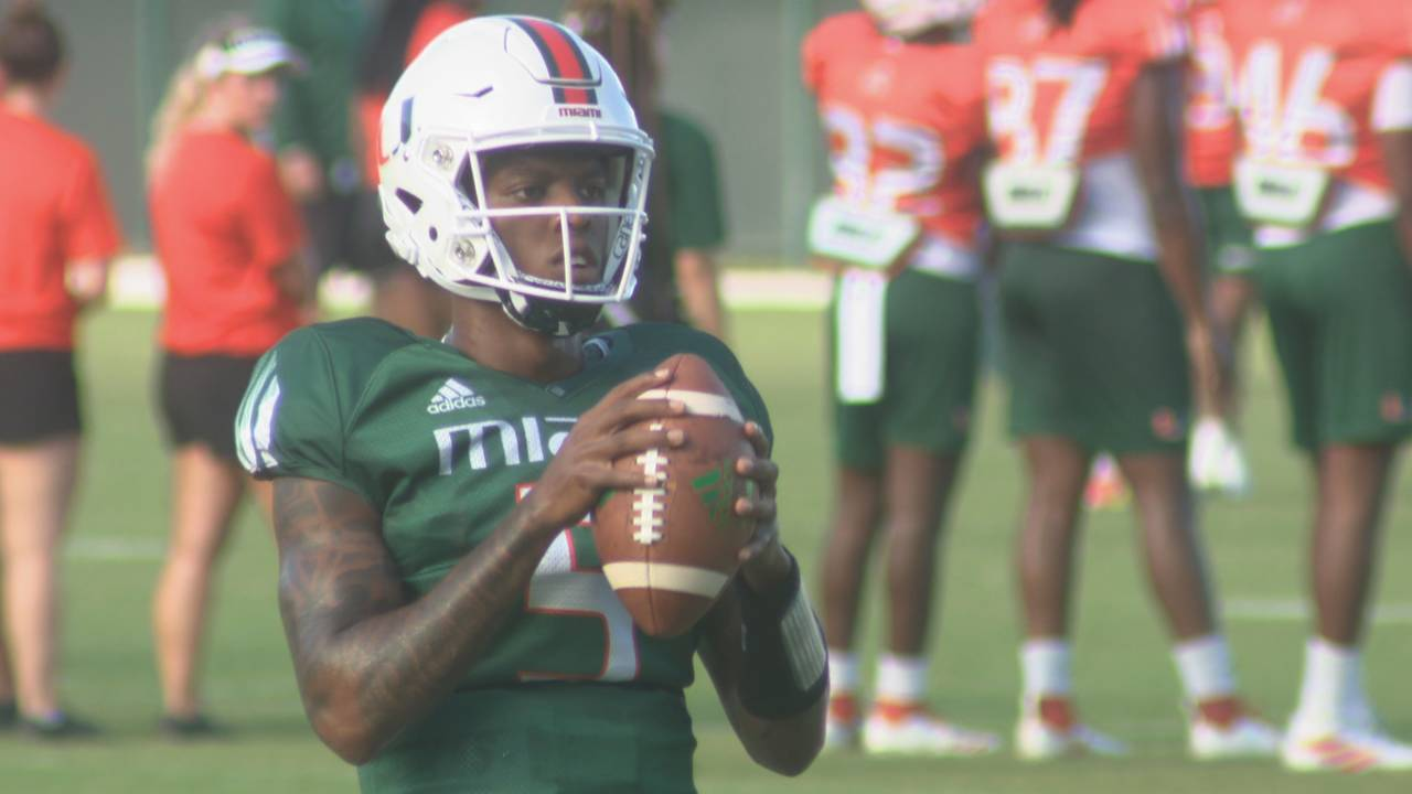 N'Kosi Perry, candidate for Miami Hurricanes starting QB job