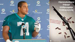 Former bullied Dolphins player Jonathan Martin in custody after threatening post