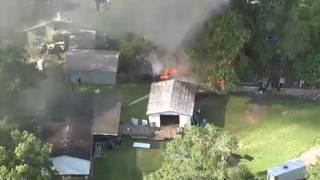 Video: Shed fire extinguished in Orange County