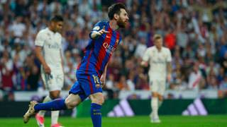 Rival fans applaud Lionel Messi after 'extraordinary' hat-trick