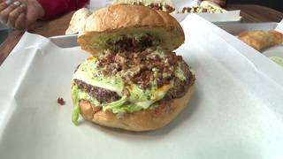 Local burger joint features burger with five different meats