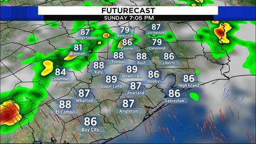 Storms wind down for Sunday night
