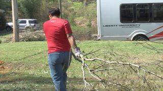 Liberty University students help clean up storm damage in Danville