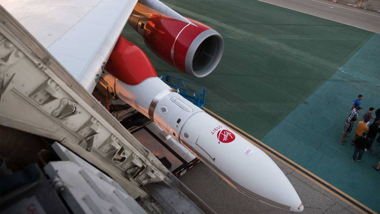 Virgin Orbit LauncherOne wing shot