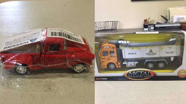 Toy trucks donated to Arnaldo Rios