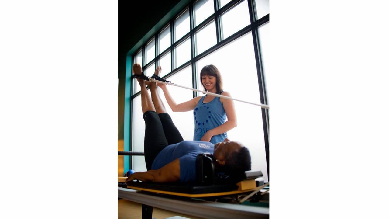 Pilates exercise women