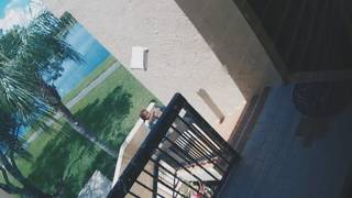 Mail carriers seen throwing packages up flight of stairs at Coconut Creek home