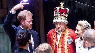 Prince Harry wows crowds by singing at 'Hamilton' in London's West End