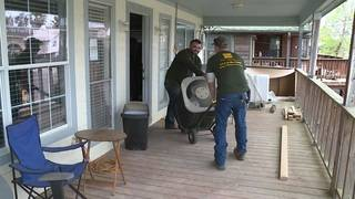 Helping hand offered to woman with flood-damaged home on lower San Jacinto River