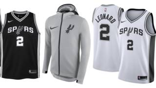 half off c7cb7 32147 New Spurs Nike jerseys, other gear now on sale