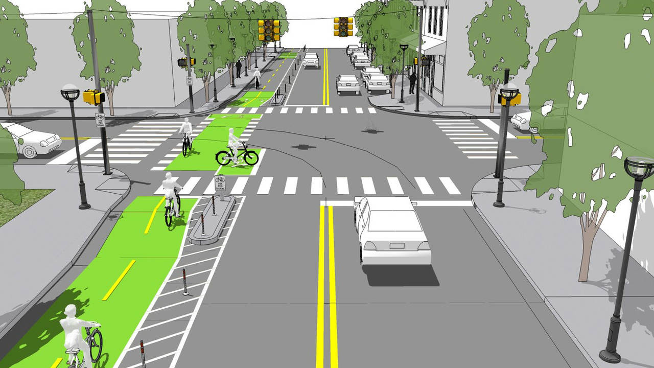 William Street protected bike lane