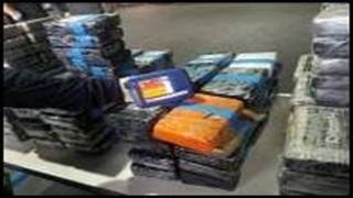 550 pounds of cocaine intercepted by U.S. Customs officers in Miami