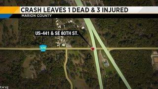 Alcohol-related Marion County crash leaves 1 dead, 3 injured, FHP says