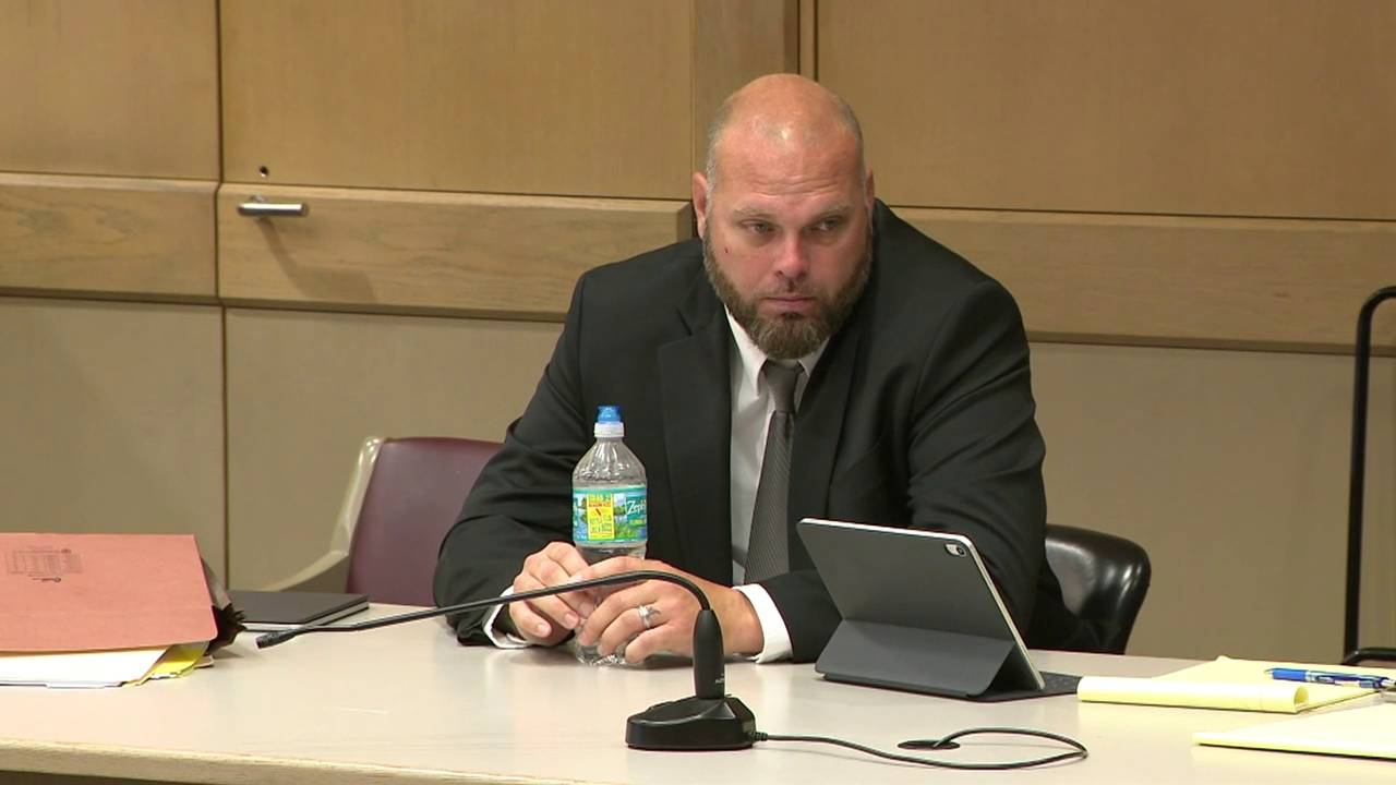 Deputy Justin Lambert during day 2 of trial July 3