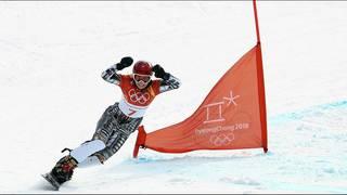 Ledecka makes history in the Snowboard Parallel Slalom