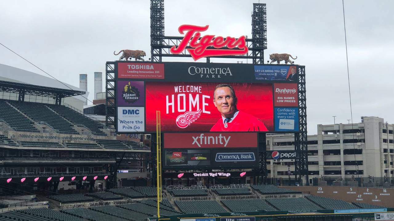 Detroit Tigers welcome Steve Yzerman