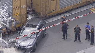 Freight train strikes SUV in North Miami, authorities say