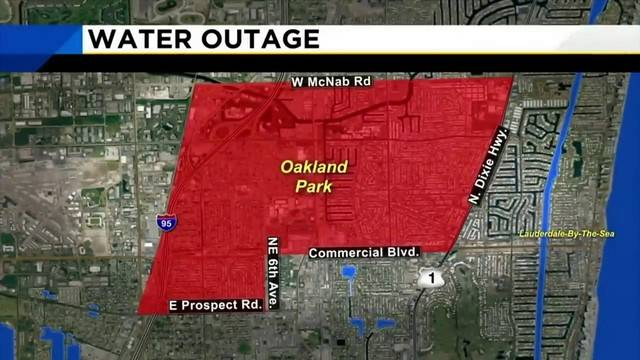 Broward County water outage map