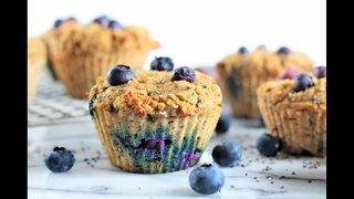 RECIPES: Blueberry Chia Muffins & Spinach Walnut and Feta Pesto Sauce