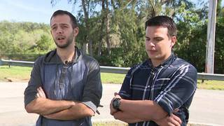 Group of friends pull 2 victims from burning car in Davie