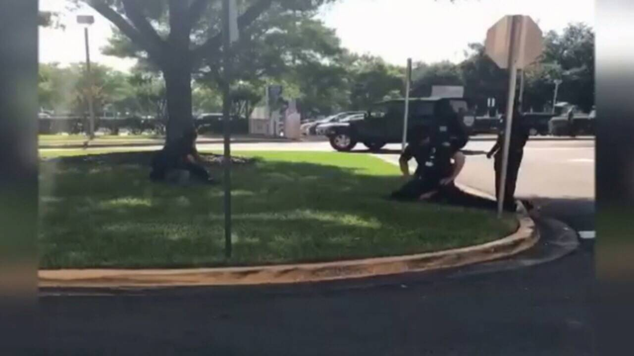 Still image from video captured outside UF Health 3