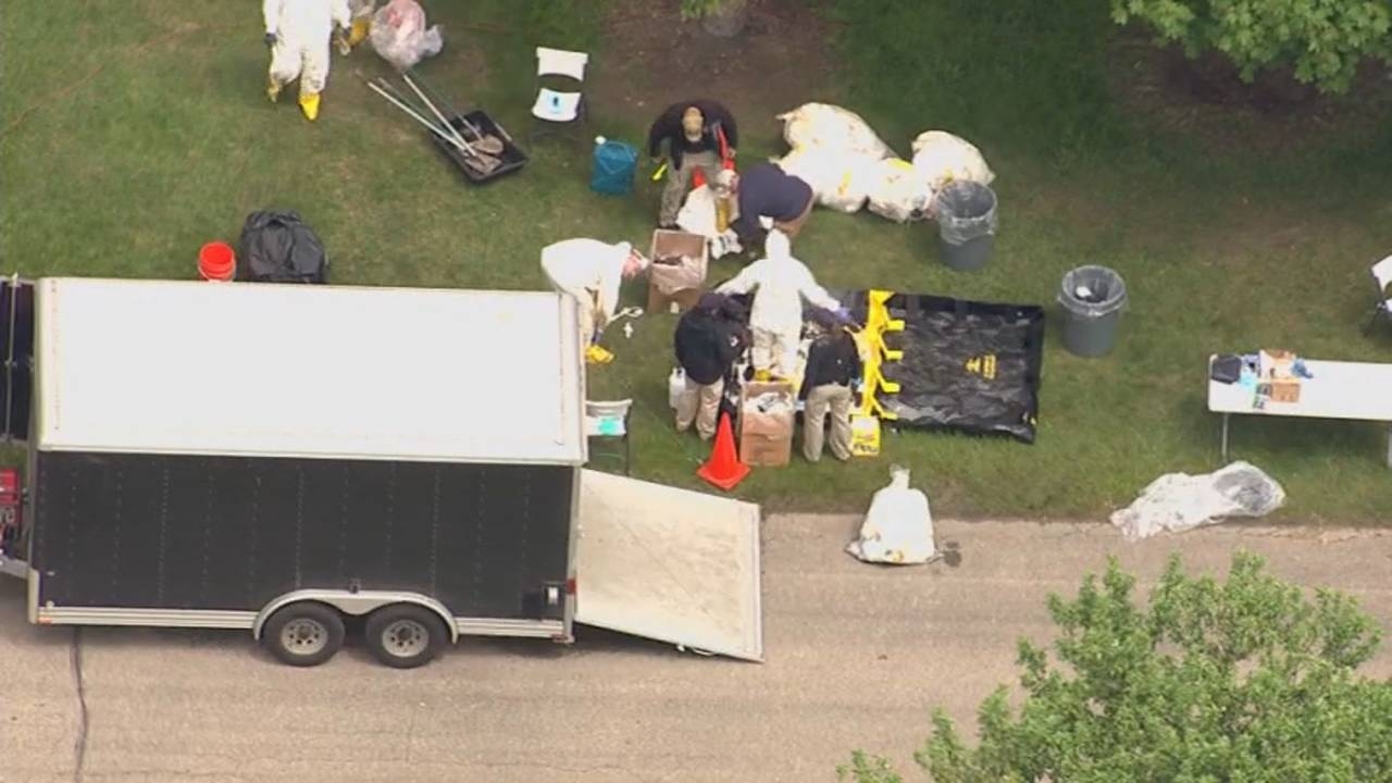 Canton Township cemetery dig aerials 1