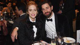 Emily Blunt and John Krasinski Rock Matching Suits at the Writers Guild Awards