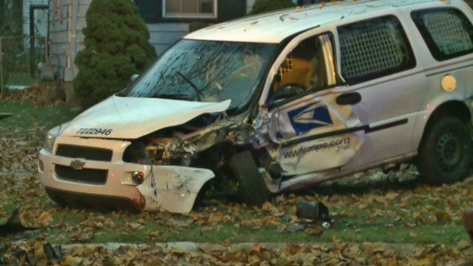 mail truck hit detroit nov 17 2018