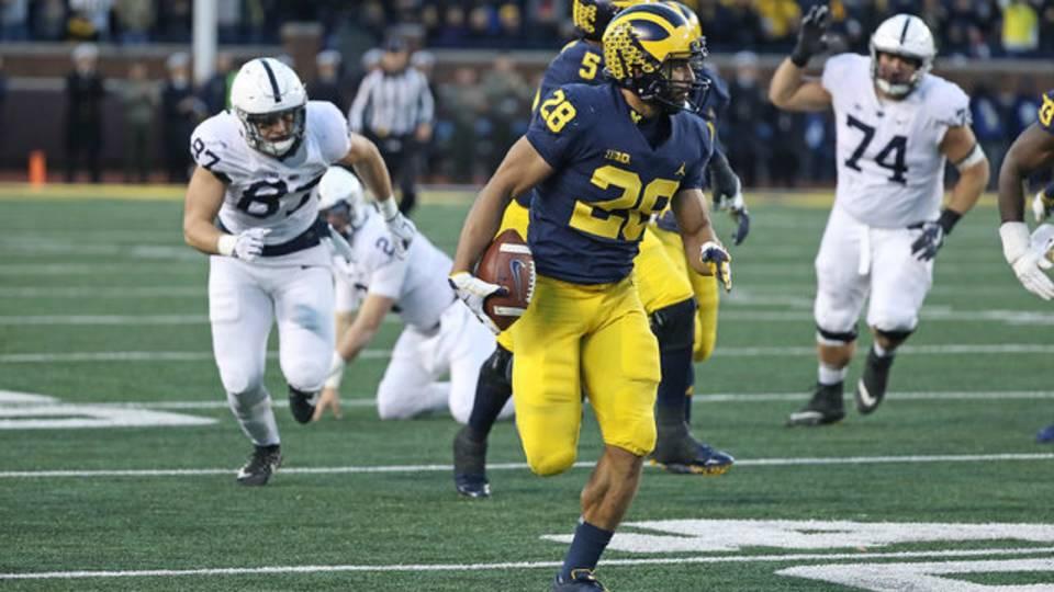Brandon Watson pick-six Michigan football vs Penn State 2018