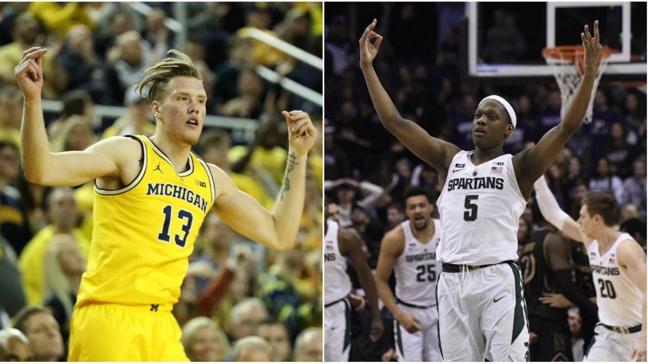 Image result for michigan michigan state basketball
