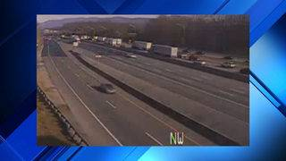 Car crash causes 1.5-mile backup on I-81 North in Montgomery County