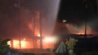 Multimillion dollar mansion catches fire in Miami Beach