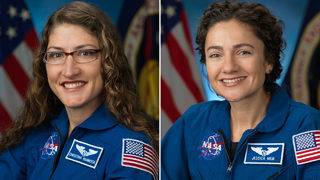 International Space station's first all-female spacewalk makes 'HERstory'