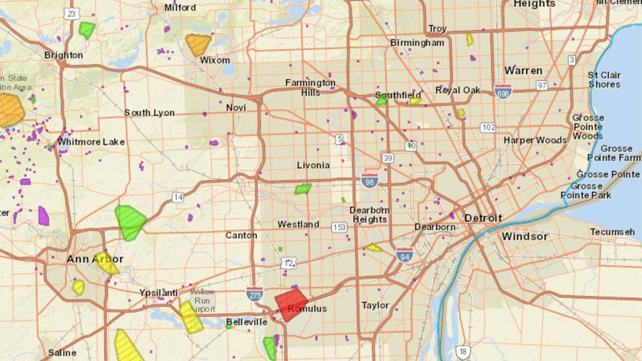 DTE Energy power outage map: 62K customers without power in...