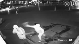 Inept burglar hits partner-in-crime in face with brick