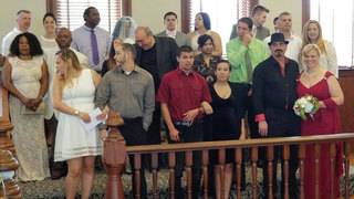 Osceola couples marry in group Valentine's Day ceremony
