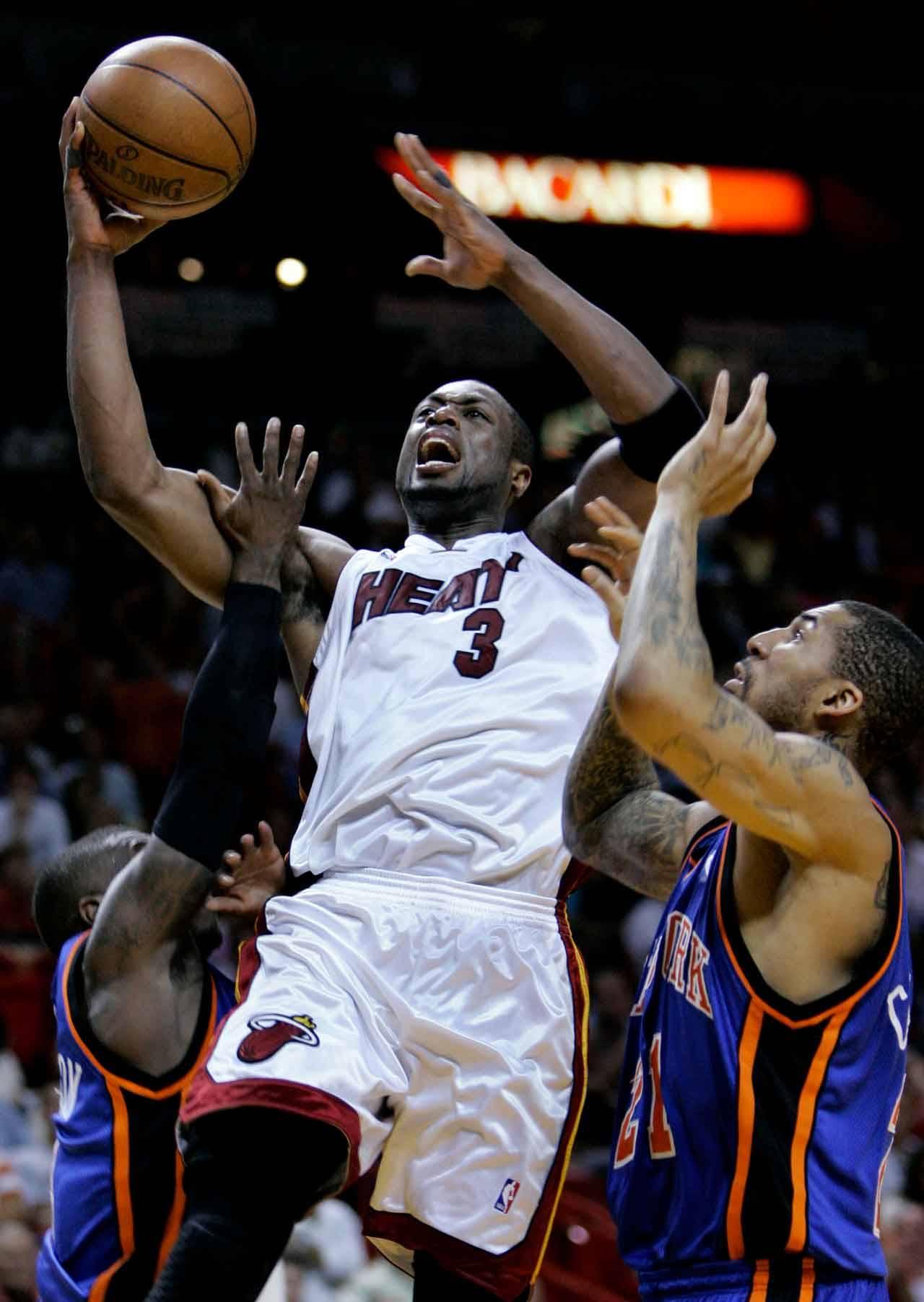 Dwyane Wade career-high 55 points vs New York Knicks, April 12, 2009